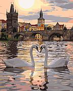 Картина по номерам Идейка Романтическая Прага 40*50 см (в коробке) арт.KH4135