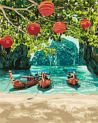 Картина по номерам Идейка Отдых в Таиланде 40*50 см (в коробке) арт.KH2291
