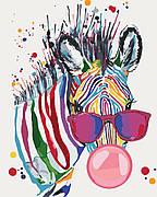 Картина по номерам Идейка Яркая зебра 40*50 см (в коробке) арт.KH4071