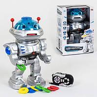 Радиоуправляемый робот игрушка Play Smart 9894 стреляет дисками
