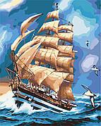 Картина по номерам Идейка Парусник Америго Веспучи 40*50 см (в коробке) арт.KH2712