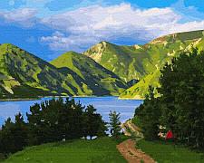 Картина по номерам Rainbow Art Горное озеро 40*50 см (без коробки) арт.BK-GX30894
