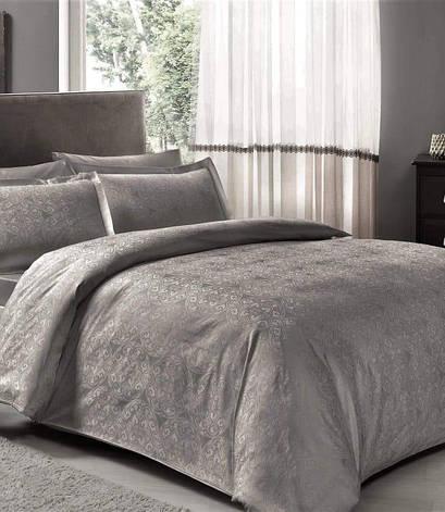 Комплект постельного белья Tac Евро сатин-жаккард Nodus antrasit арт.TAC60208381, фото 2