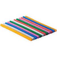 Клей для термопістолету 30 см 1,1 см кольорови з глітером мікс кольорів