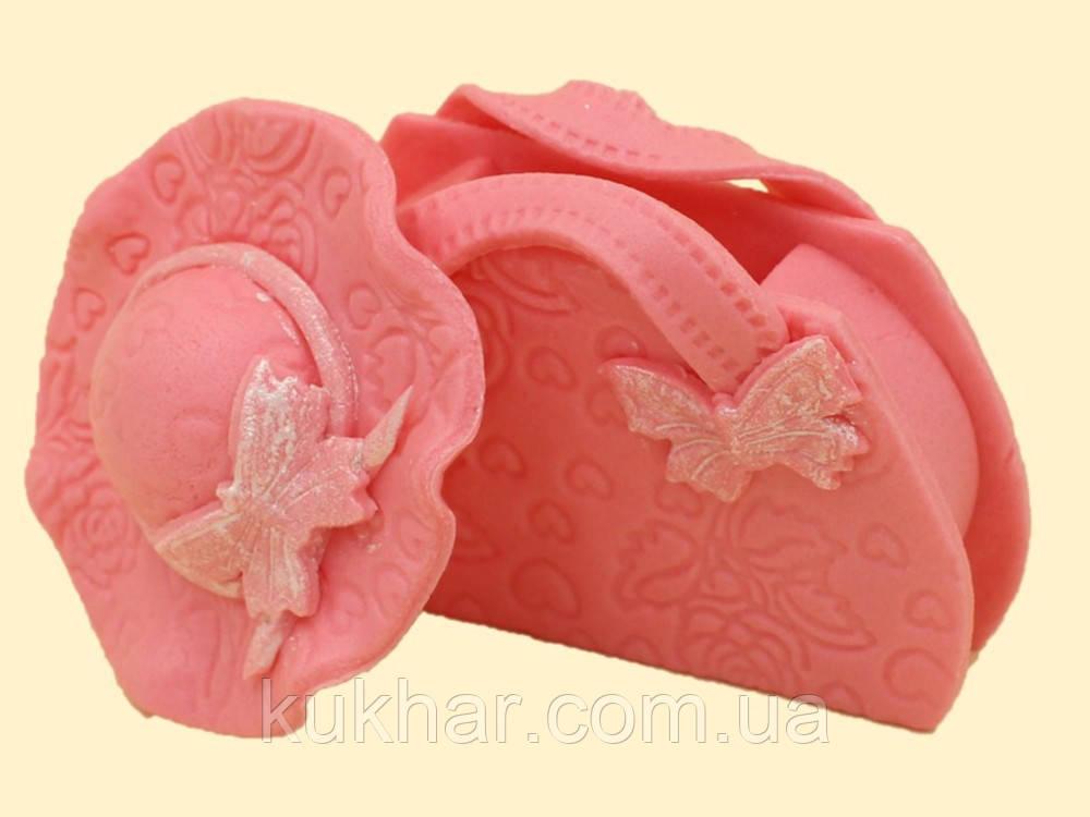 """Набір """"Сумочка і капелюх"""" рожева"""