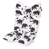 Матрасик-вкладыш в коляску Miracle Baby Медведи 38*70 см
