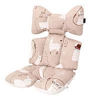 Матрасик-вкладыш в коляску Miracle Baby Лама 38*70 см