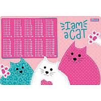 Підложка настільна 1Вересня I am a cat, таблиця множення