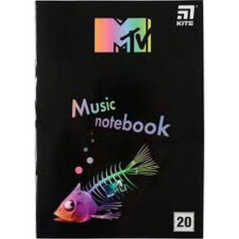 Зошит для нот KITE MTV-2  А4, 20 арк.