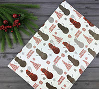 Новогодняя упаковочная бумага 50 x 70 см (уп-50 шт), фото 1