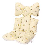 Матрасик-вкладыш в коляску Miracle Baby Пчёлы 38*70 см