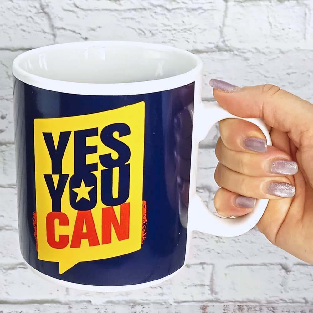 """Чашка гігант ХХL """"Yes you can"""", Кружка-гигант """"Ты сможешь"""""""