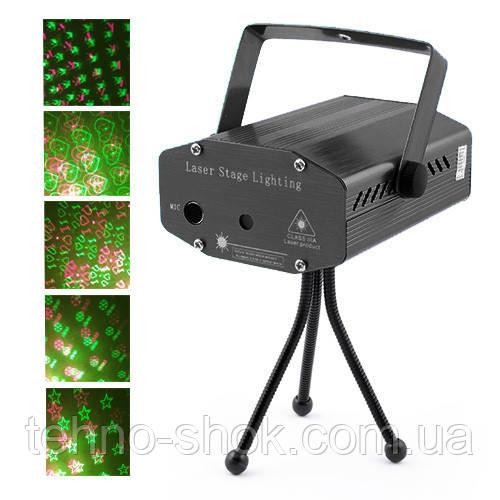 Лазерный проектор, стробоскоп, диско лазер HJ-06, 220V