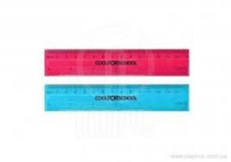 Лінійка пластикова 15см PVC Flex, гнучка, кольорова