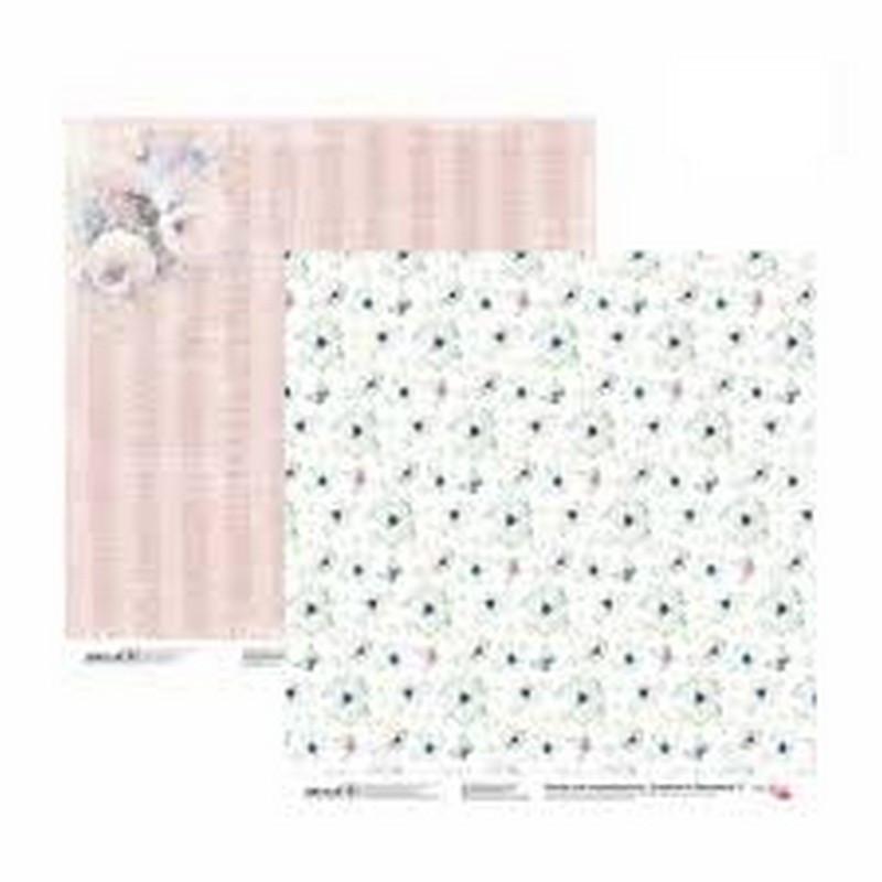 Папір для скрапбукінгу Emotion & Romance 2 двосторонній 30,48х30,48 см 200г/м2 ROSA TALENT