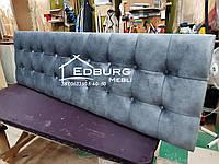 Изголовье кровати, стеновая панель  Квадро екокожа, фото 1
