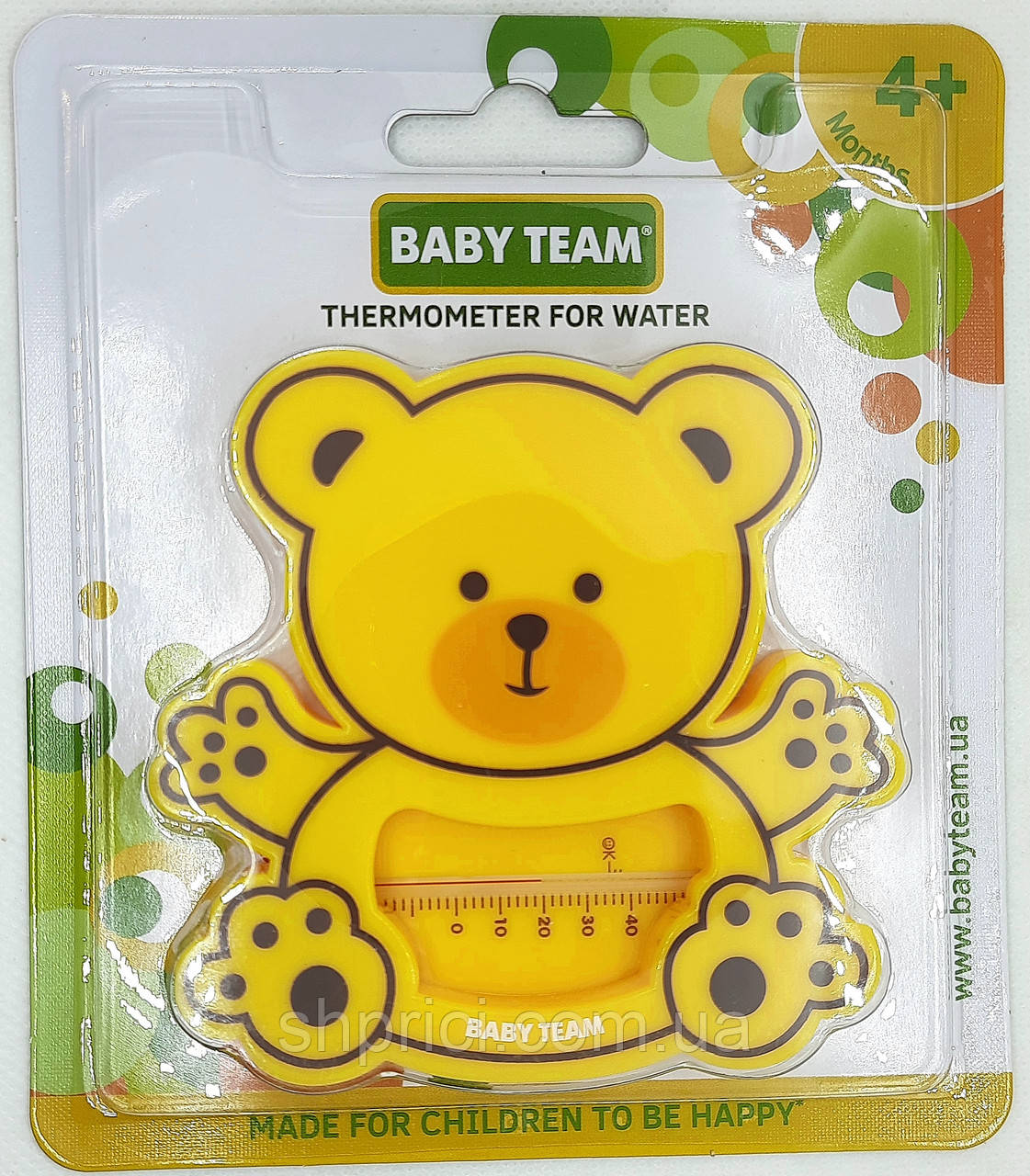 "Термометр для воды ""Мишка"" BabyТeam, 0+, арт. 7302"