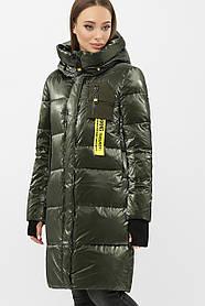 Зимовий модний пуховик-куртка Хакі Розміри 52,50,48,46