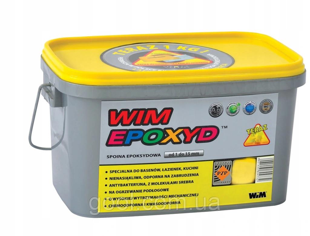 Эпоксидная затирка WIM EPOXYD для швов плитки ведро по 2 кг цвет № 1/00 белый