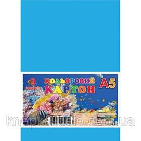Картон кольоровий, набір  9арк., А5, в п/п пакеті_КА5309Е