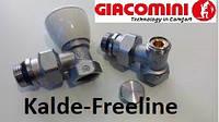 Комплект кранов для радиатора угловой Giacomini