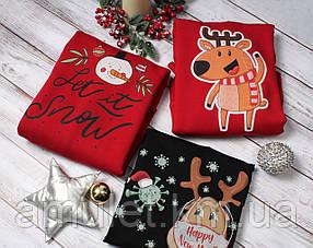 Світшот новорічний з принтами UNISEX CHRISTMAS