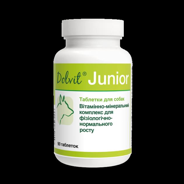 """ДОЛВИТ ЮНИОР DOLVIT JUNIOR """"DOLFOS"""", витаминный комплекс для нормального роста щенков, 90 таблеток"""