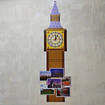 Биг Бэн. Стенд с часовым механизмом Коричневый (95х40 см)