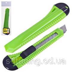 Alloid. Нож пластиковый с выдвижным сегмент. лезвием 18мм (НП-1809)