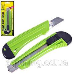Alloid. Нож пластиковый усиленный с выдвижным сегмент. лезвием 18мм (НП-1838)