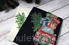 Свитшот молочный  новогодний с принтом  (для мужчин и женщин) Car with gifts, фото 3