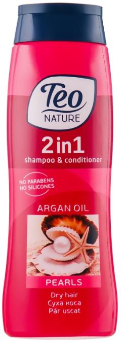 Шампунь-бальзам для волос Teo Nature 2in1 Shampoo & Conditioner Pearls & Argan Oil 400мл (3800024022326)