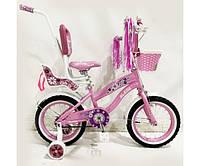 """Велосипед для девочек Flower-Rueda 03B Колёса 14"""""""
