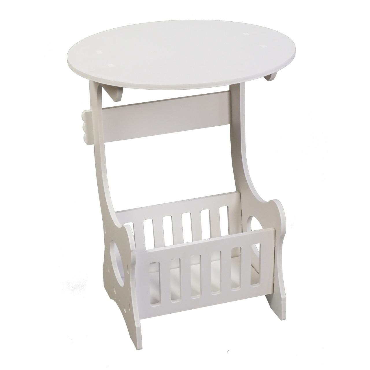 Прикроватный круглый столик с ящичком для мелочей