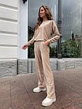 Костюм женский кофта + штаны чёрный, бежевый, кэмел 42-44,46-48, фото 5