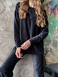 Костюм женский кофта + штаны чёрный, бежевый, кэмел 42-44,46-48, фото 3
