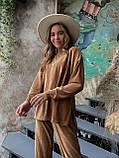 Костюм женский кофта + штаны чёрный, бежевый, кэмел 42-44,46-48, фото 4