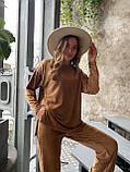 Костюм женский кофта + штаны чёрный, бежевый, кэмел 42-44,46-48, фото 9