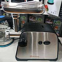 Электромясорубка с реверсом Кухонная электрическая мясорубка с насадкой для томатов Zepline ZP-002 Черная