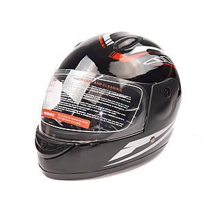 Шлем детский интеграл (mod: F2-801) (size XS, BLACK/RED) ST, фото 2