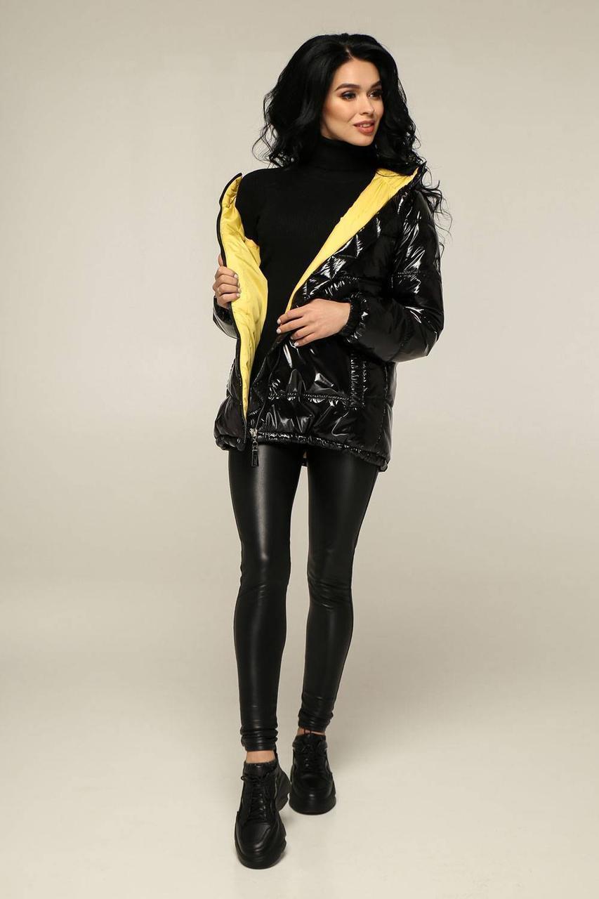 Демісезонна молодіжна курточка з плащовки лак