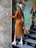 Костюм женский юбочный на затяжках бежевый, мокко, чёрный, бордовый, кэмел 42-44,44-46, фото 6