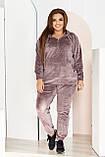 Стильный женский и комфортный прогулочный костюм, разные цвета р.48-50,52-54,56-58,60-62,64-66,68-70 Код 3395Ф, фото 4