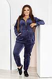 Стильный женский и комфортный прогулочный костюм, разные цвета р.48-50,52-54,56-58,60-62,64-66,68-70 Код 3395Ф, фото 6