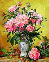 Картина по номерам рисование Mariposa Q2164 Пионы в изящной вазе 40х50см набор для росписи по цифрам, краски,