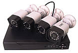 Комплект видеонаблюдения UKC DVR регистратор 4-канальный и 4 камеры DVR CAD D001 KIT, фото 6