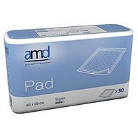 Гигиенические пеленки AMD Pad Super, 60 х 90 см, 30 шт