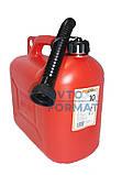 Канистра пластиковая для бензина с лейкой  10л, фото 4