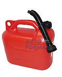 Канистра пластиковая для бензина с лейкой  10л, фото 2