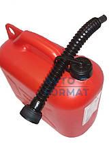 Канистра пластиковая для бензина с лейкой  10л